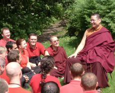 Lama Dondrup Dorje giving teaching