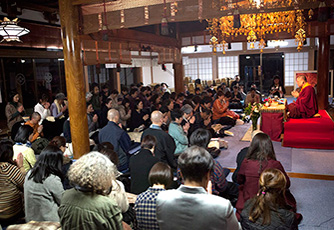Ven. Lama Dondrup Dorje teaching in Japan